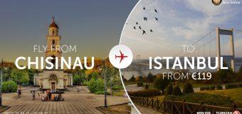 Авиабилеты Turkish Airlines: Кишинев – Стамбул — Кишинев = 119 евро.