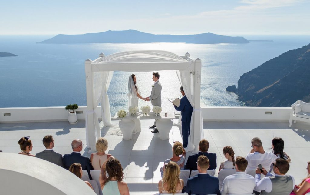 Свадебная церемония на Санторини!