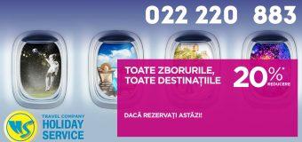 ✈ 20% reducere — Toate zborurile, toate destinaţiile!